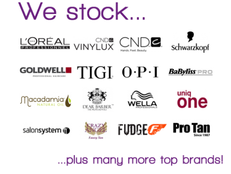 Popular professional hair and beauty brands available from Dennis Williams High Wycombe