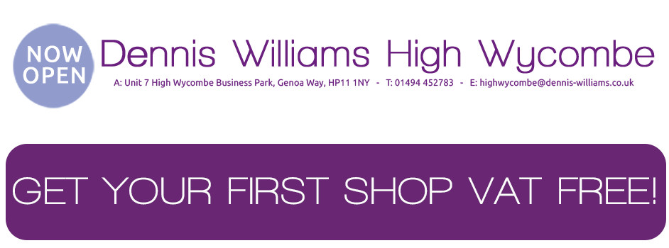 Dennis Williams High Wycombe can be fount at Unit 7, High Wycombe Business Park, Genoa Way, HP11 1NY. Call 01494 452783 for all enquiries.
