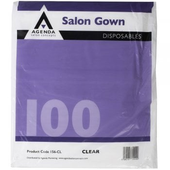 Agenda Disposable Gown Clear x 50