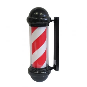 Agenda Red White Barber Pole Black Case