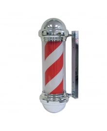 Red White Barber Pole Chrome Case