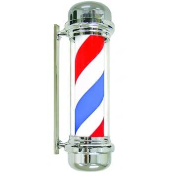 Agenda Red White Blue Barber Pole Chrome Case