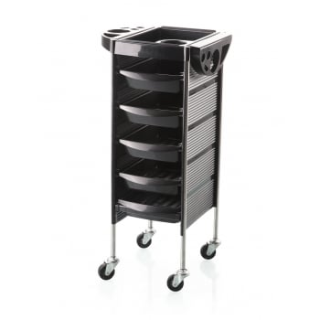 Apex Carello Black Hairdressing Salon Trolley On Casters