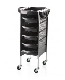 Carello Black Hairdressing Salon Trolley On Casters