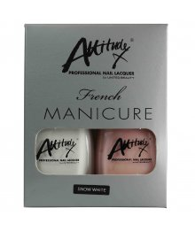 French Manicure Set Snow White