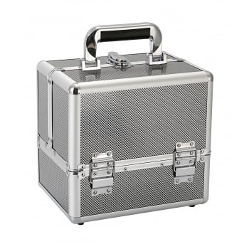 Avec Beauty Box Metallic Silver Small