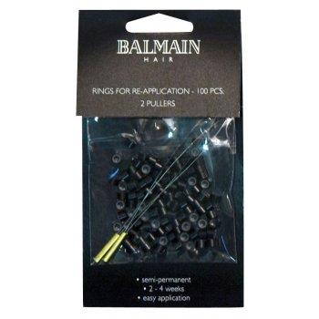 Balmain Black Soft Rings 100pk