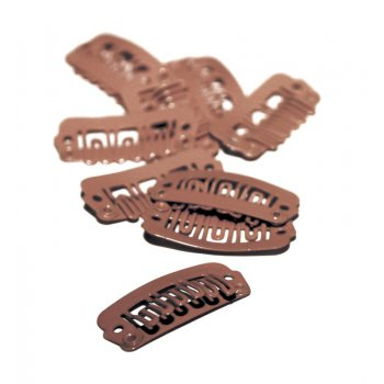 Balmain DoubleHair Clips Brown 10pcs