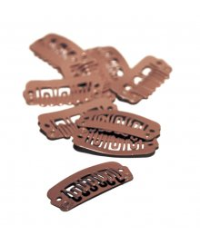 DoubleHair Clips Brown 10pcs