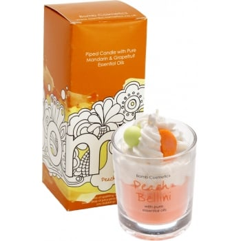 Bomb Cosmetics Peach Bellini Piped Candle