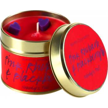 Bomb Cosmetics Pink Rhubarb & Blackberry Tin Candle