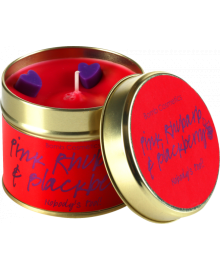 Pink Rhubarb & Blackberry Tin Candle