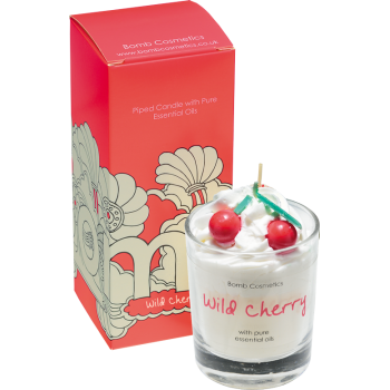 Bomb Cosmetics Wild Cherry Piped Candle