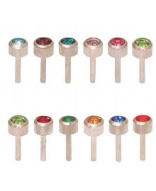 Birthstone Studs Dozen Assorted