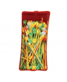 Coloured Plastic Pins x 200