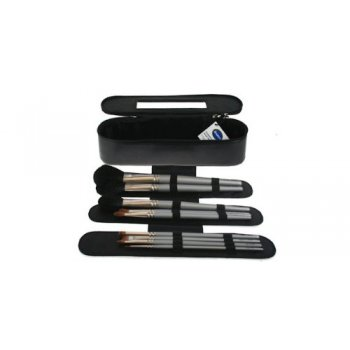 Denman Makeup Brush Case with 10 Brushes