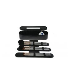 Makeup Brush Case with 10 Brushes
