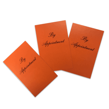 Dennis Williams Appointment Cards Orange x 100