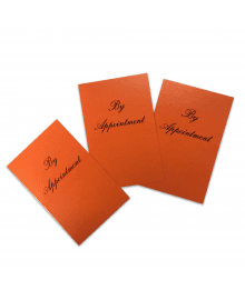 Appointment Cards Orange x 100