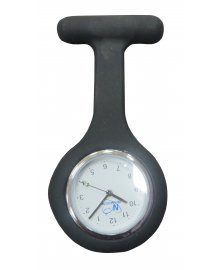 Silicone Fob Analogue Watch Black