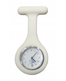 Silicone Fob Analogue Watch White