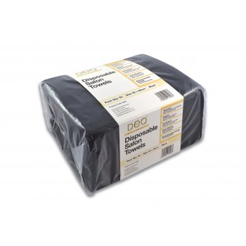 Deo Disposable Salon Towels Black x 50