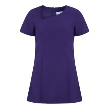 Dream Design Workwear Jacy Asymmetric Neck Cap Sleeve Purple Size 16