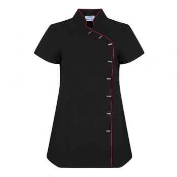 Dream Design Workwear Jade Tunic Black/Hot Pink Size 22
