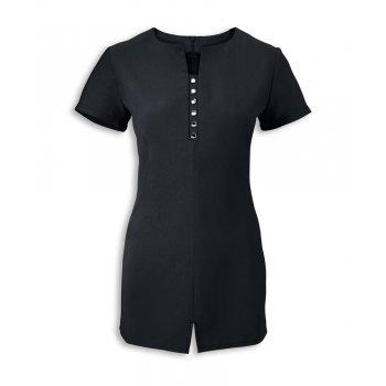 Dream Design Workwear Jewel 'Crystal Cascade' V Neck Black Tunic Size 22