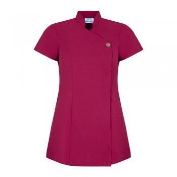 Dream Design Workwear Jilly Crossover Colour Collection Tunic Pink Size 14