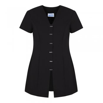 Dream Design Workwear Jurisa Button Tunic Black Size 18
