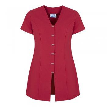 Dream Design Workwear Jurisa Button Tunic Hot Pink Size 16