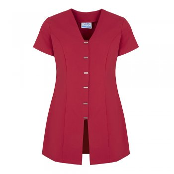 Dream Design Workwear Jurisa Button Tunic Hot Pink Size 8