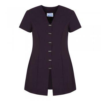 Dream Design Workwear Jurisa Button Tunic Plum Size 10