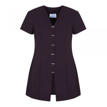 Dream Design Workwear Jurisa Button Tunic Plum Size 8