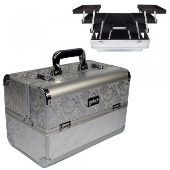 Geko Vanity Case Heavy Duty Silver Leaf