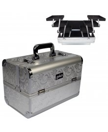 Vanity Case Heavy Duty Silver Leaf