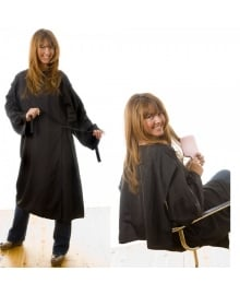 Black Kimono Gown with Chair Protector