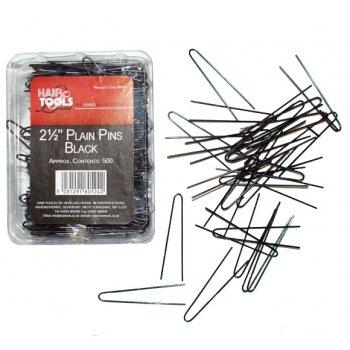 Hair Tools Plain Pins 2.5 inch Black x 500