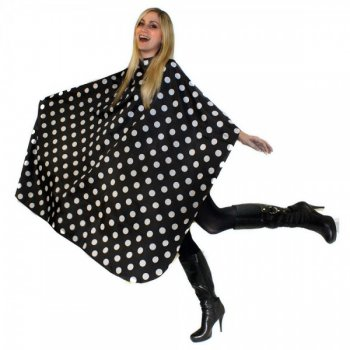Hair Tools Polka Dot Cutting Gown with Poppers