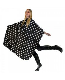 Polka Dot Cutting Gown with Poppers