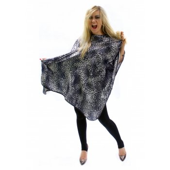 Hair Tools Snow Leopard Print Gown