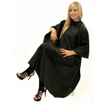Hair Tools Unisex Gown Black With Poppers