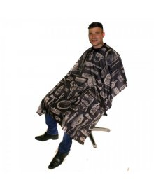 Vintage Barbers Gown Charcoal