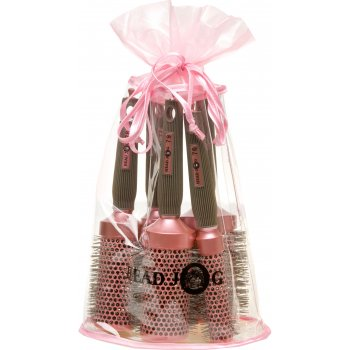 Head Jog Oval Pink Hair Brush Set