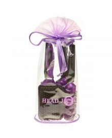Oval Purple Hair Brush Set