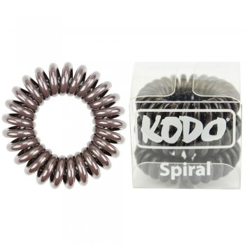 Kodo Spiral Pain-Free Hair Band Brown x 3