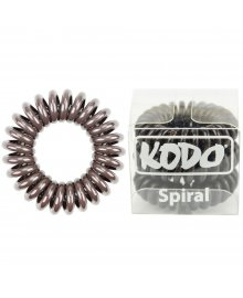 Spiral Pain-Free Hair Band Brown x 3