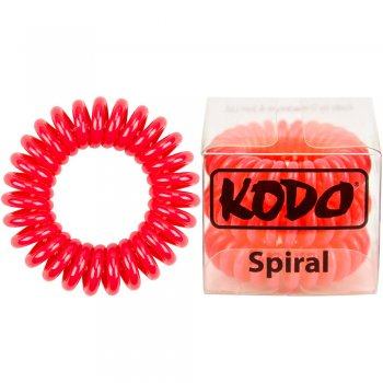 Kodo Spiral Pain-Free Hair Band Red x 3