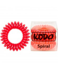 Spiral Pain-Free Hair Band Red x 3